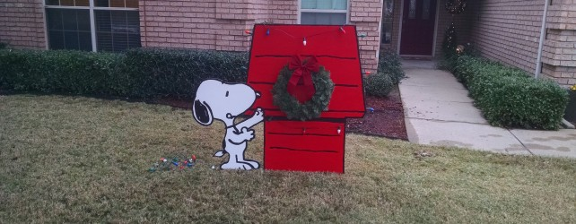Snoopy Christmas Yard Art